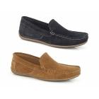 Roamers WILSON Mens Suede Moccasin Driving Loafers Navy