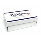Padders LYDIA Ladies Microsuede Velcro Extra Wide Slippers Black
