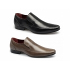 Red Tape SHERSTON Mens Leather Slip-On Shoes Tan