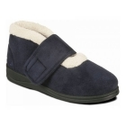 Padders SILENT Ladies Microsuede Extra Wide (EE) Fitting Boots Slippers Navy