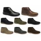 Red Tape GOBI II Mens Suede Leather Desert Boots Black