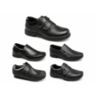 Renegade Sole WREXHAM*A Boys School Slip On Loafers Black