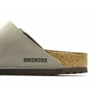 Birkenstock ARIZONA Unisex Faux Nubuck Buckle Sandals Stone