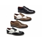 Giovanni MATTEO Mens Faux Leather Brogue Shoes Black