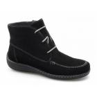 Caprice CELINA Ladies Suede Zip Lace-Up Moccasin Boots Black