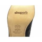Shuperb ENRIQUE Mens Cuban Heel Plain Leather Boots Black