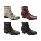 Shuperb EMMANUEL Mens Snakeskin Leather Cuban Heel Boots True Black