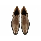 US Brass EASTWOOD Mens Harness Ankle Cowboy Boots Tan