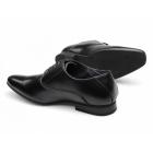 Route 21 HENDRICK Mens Lace-Up Chisel Toe Shoes Black