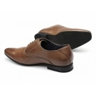 Route 21 HENDRICK Mens Lace-Up Chisel Toe Shoes Tan