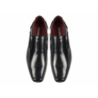 Giovanni OSVALDO Mens Faux Leather Slip On Shoes Black