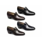 Paco Milan GINO Mens Leather Wingtip Cuban Heel Shoes Dark Brown