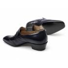 Paco Milan GINO Mens Leather Wingtip Cuban Heel Shoes Navy
