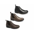 Rieker 36082-00 Mens Leather Warm Low Cut Chelsea Boots Black