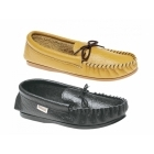 Mokkers GORDON Mens Leather Moccasin Slippers Tan