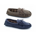 Mokkers ALWIN Mens Suede Moccasin Slippers Navy