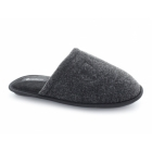 Cadans WARREN Mens Warm Padded Mule Slippers Black