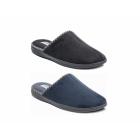 Padders LUKE Mens Microsuede Wide (G) Fitting Mule Slippers Black