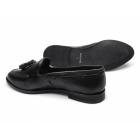 Renaissance LELIANA Ladies Leather Tassel Loafers Black