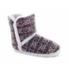 Cara Mia LORNA Ladies Warm Nordic Bootie Slippers Pink/Purple