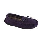 Mokkers AMANDA Ladies Suede Moccasin Slippers Purple