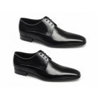 Paco Milan FABIAN Mens Leather Croc Gibson Shoes Black
