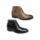 Giovanni ELIAS Mens Lace Up Buckle Chukka Boots Black
