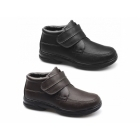 Dr Keller DREYFUSS Mens Faux Leather Dual Fit Touch Fasten Boots Black
