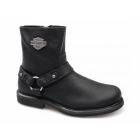Harley Davidson SCOUT Mens Leather Zip Harness Boots Black