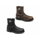 Harley Davidson SCOUT Mens Leather Zip Harness Boots Brown