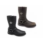 Harley Davidson JOSH Mens Leather Zip Harness Boots Brown