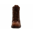 Harley Davidson DARNEL Mens Leather Lace Up Zip Combat Boots Brown