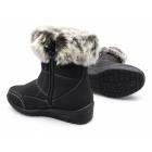 Dr Keller MIRIAM Ladies Faux Fur Warm Zip Winter Boots Black