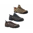 Hi-Tec PENRITH LO WP Mens Suede Waterproof Hiking Shoes Chocolate/Orange