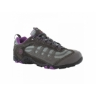 Hi-Tec PENRITH LO WP Ladies Waterproof Hiking Shoes Charcoal/Purple