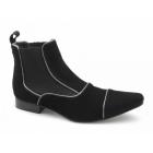 Gucinari GIORGIO Mens Suede Pointed Chelsea Boots Black