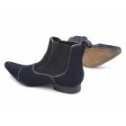 Gucinari GIORGIO Mens Suede Pointed Chelsea Boots Navy