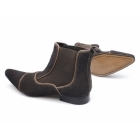 Gucinari GIORGIO Mens Suede Pointed Chelsea Boots Brown
