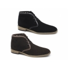 Lucini ALDRIC Mens Suede Chukka Boots Brown