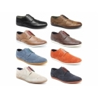 Base London SHORE Mens Leather Brogue Shoes Pull Up Brown