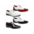 Rossellini ROBERTO Mens Pointed Patent Shoes White
