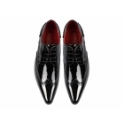 Rossellini ROBERTO Mens Pointed Patent Shoes Black