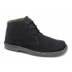 Roamers LEONARD Mens Square Toe Suede Leather Desert Boots Black