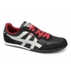 Xti CASON Mens Nylon/Faux Suede Running Shoes Black/Red