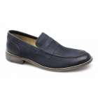 Ikon MARNER Mens Leather Penny Loafers Navy