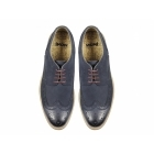 Ikon HAZEL Mens Leather Lace-Up Brogue Shoes Navy