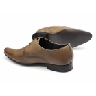 Ikon ARNIE Mens Leather Lace-Up Pointed Shoes Tan
