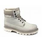 Cat ® COLORADO BURNISH BRIGHTS Mens Nubuck Work Boots Light Grey