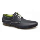 Rieker 11306-14 Mens Perforated Leather Lace-Up Shoes Navy