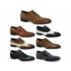 Gucinari PARMA Mens Leather Lace Up Brogue Shoes Tan